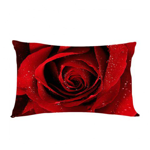 Romatic Red Rose   Flowers Cushions Pillowcase  Lover Gift - FLAME 50X75CM