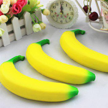 High Quality Squeeze Stretch Squishy Banana Fruit Scented Slow Rising Gift Toy for Kids - YELLOW