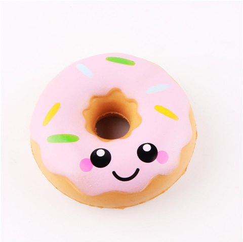 Squeeze Stretch Squishy Donuts Scented Slow Rising Gift Toy for Kids - PINK
