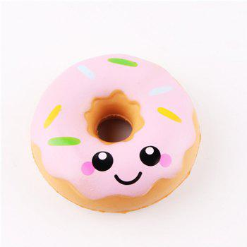 Squeeze Stretch Squishy Donuts Scented Slow Rising Gift Toy for Kids - PINK PINK