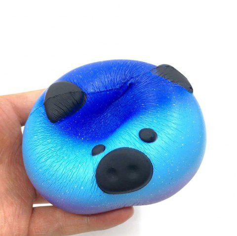 High Quality Squeeze Stretch Squishy  Cartoon Stars Pig Fruit Scented Slow Rising Gift Toy for Kids - CERULEAN