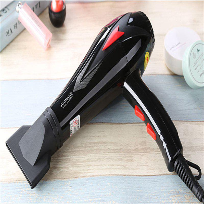 Barbershop Household Hot and Cold Air Dorm Room Hair Dryer - BLACK