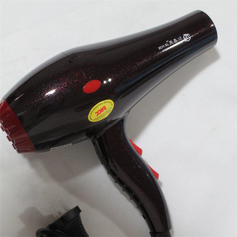 Hot and Cold Air High Power 1000W Barbershop Hair Dryer - DARK RED