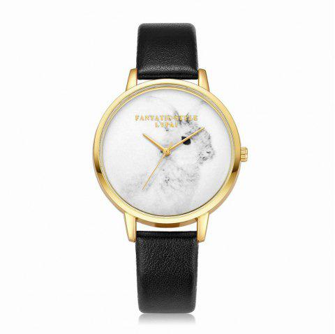 Lvpai P088-G Women Fashion Leather Band Rabbit Picture Quartz Watches - BLACK
