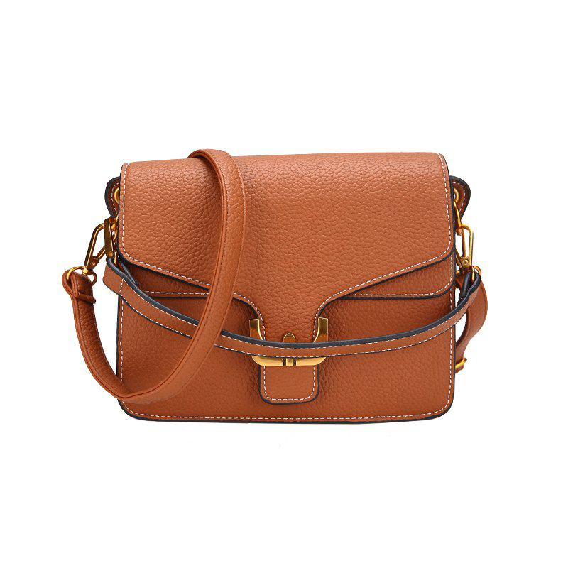 Fashion Wild Shoulder Messenger Bag Small Messenger Bag - BROWN