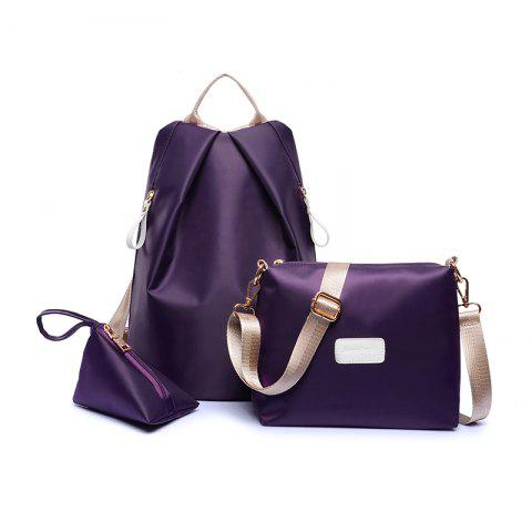 Fashion Women S Shoulder Bag Nylon Waterproof Backpack Shoulder Messenger  Bag - PURPLE eebfb695442e0