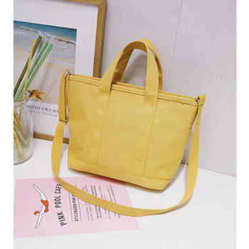 Women's Shoulder Bag Preppy Style Solid Color Casual All Matched Chic Bag - YELLOW