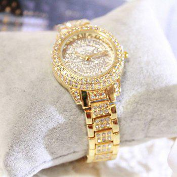 New Fashion Gold Silver Women Rhinestone Quartz  Relogio Feminino The Women Wrist Fashion Watch - GOLDEN
