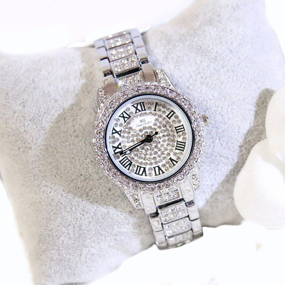 New Fashion Gold Silver Women Rhinestone Quartz  Relogio Feminino The Women Wrist Fashion Watch - SILVER