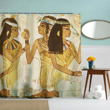 Egyptian Beauty Polyester Shower Curtain Bathroom  High Definition 3D Printing Water-Proof - COLORMIX W71 INCH * L71 INCH