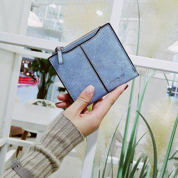 Short Section of The New Short Paragraph Multi-Function High-Capacity Coin Purse - BLUE