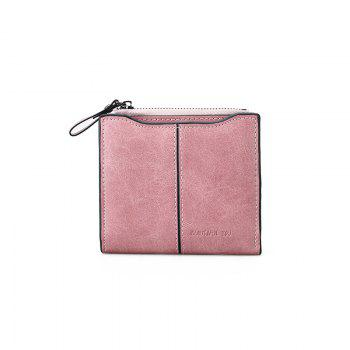 Short Section of The New Short Paragraph Multi-Function High-Capacity Coin Purse - PINK PINK
