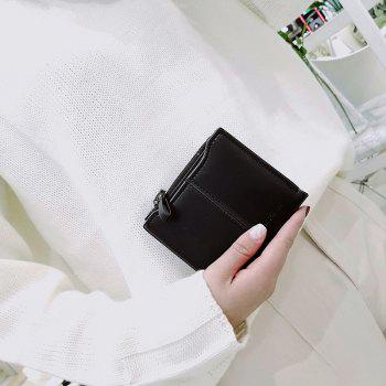 Short Section of The New Short Paragraph Multi-Function High-Capacity Coin Purse - BLACK