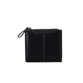 Short Section of The New Short Paragraph Multi-Function High-Capacity Coin Purse - BLACK BLACK