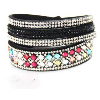 Fashion Crystal Wrap Bracelet Rhinestone Bling Slake