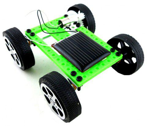 DIY Assemble Toy Set Solar Powered Car Kit Science Educational Kit for Kids Students - GREEN