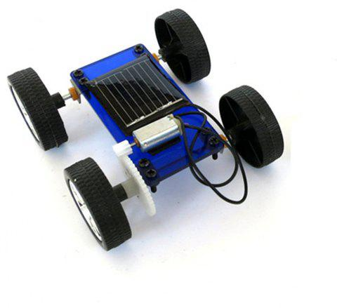 DIY Assemble Toy Set Solar Powered Car Kit Science Educational Kit for Kids Students - BLUE
