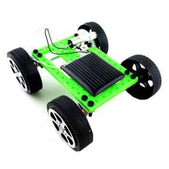 DIY Assemble Toy Set Solar Powered Car Kit Science Educational Kit for Kids Students - GREEN GREEN