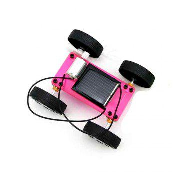 DIY Assemble Toy Set Solar Powered Car Kit Science Educational Kit for Kids Students - RED RED