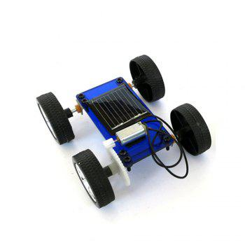 DIY Assemble Toy Set Solar Powered Car Kit Science Educational Kit for Kids Students - BLUE BLUE
