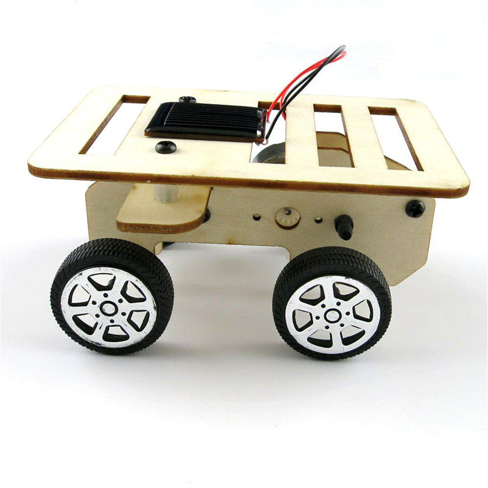 DIY Assemble Toy Set Solar Powered Car Kit Science Educational Kit for Kids Students - WOOD GRAIN