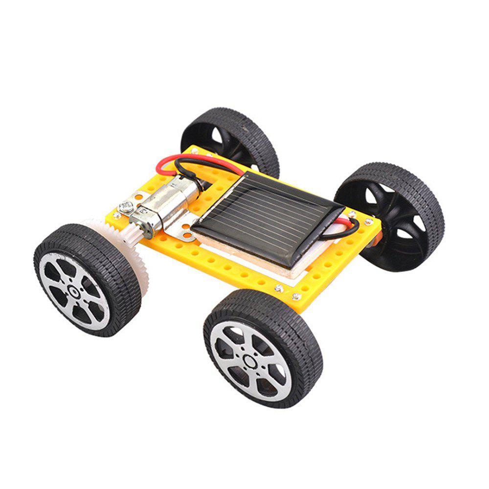 DIY Assemble Toy Set Solar Powered Car Kit Science Educational Kit for Kids Students - YELLOW