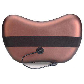 8 Massage Balls Kneading Neck Shoulder Back Massager Pillow Infrared Shiatsu Electric Car Chair Relax Device - BROWN BROWN