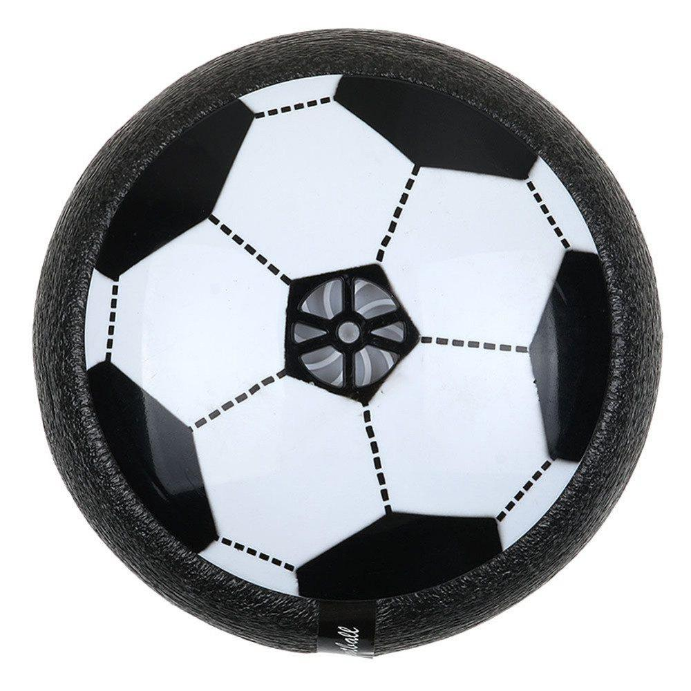 LED Light Air Power Soccer Football Glide Disk Float Disc Fun Kids Toys - BLACK