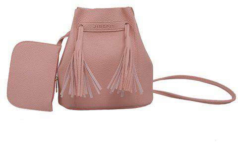 Wild Messenger Portable Two-Piece Bucket Bag - PINK