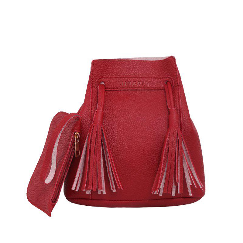 Wild Messenger Portable Two-Piece Bucket Bag - RED