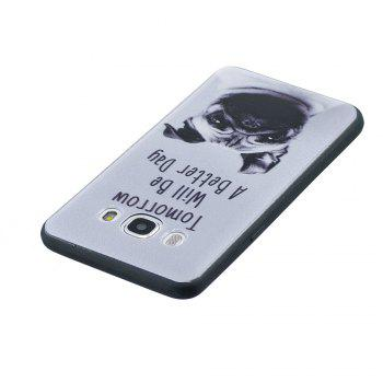 Case For Samsung GALAXY J510 Painted Cover TPU Phone Protection Shell - GRAY