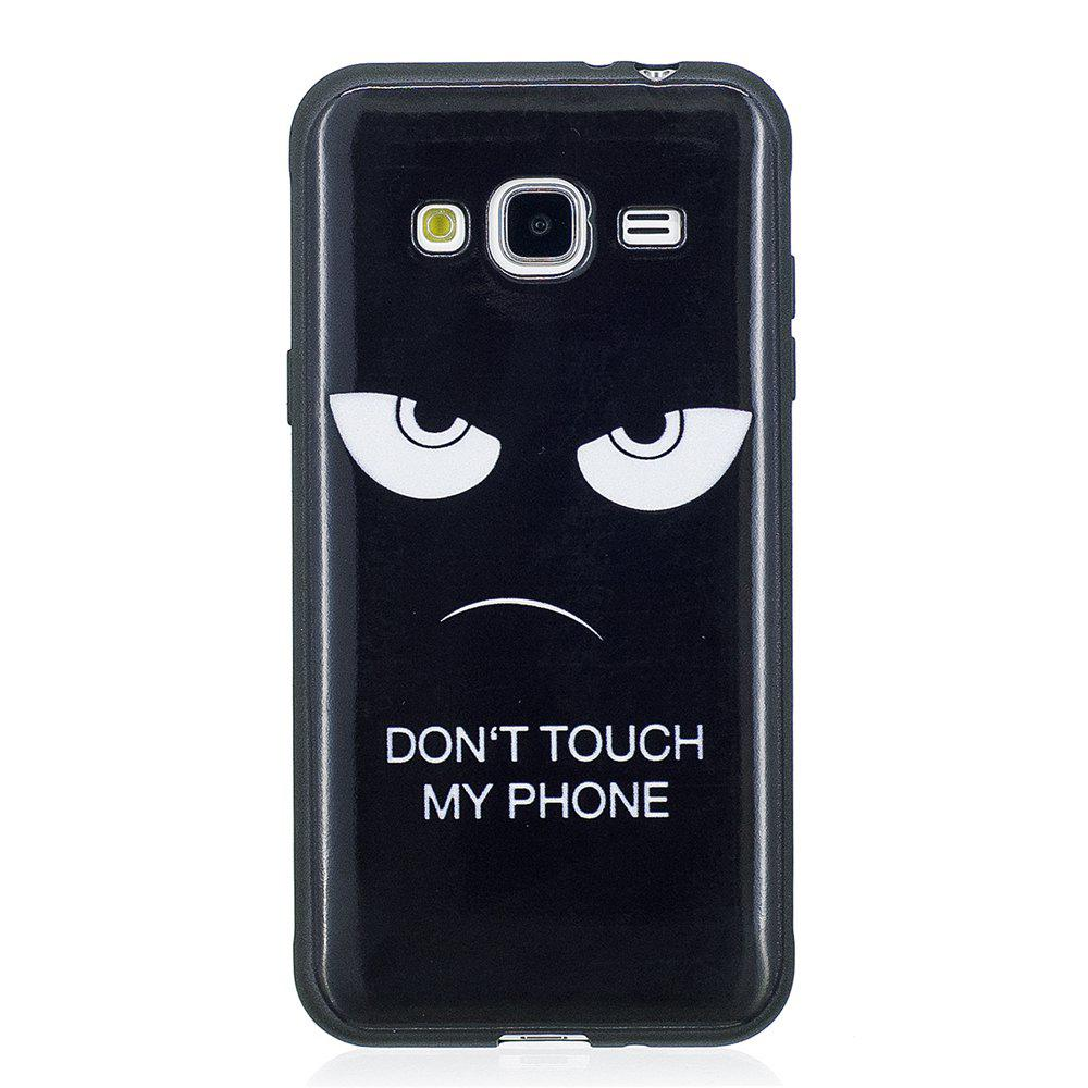 Case For Samsung GALAXY J310 Painted Cover TPU Phone Protection Shell - BLACK