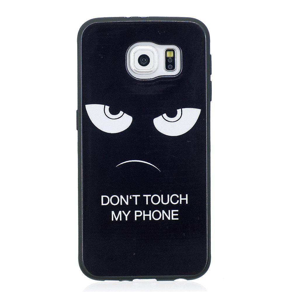 Case For Samsung GALAXY S6 Painted Cover TPU Phone Protection Shell - BLACK