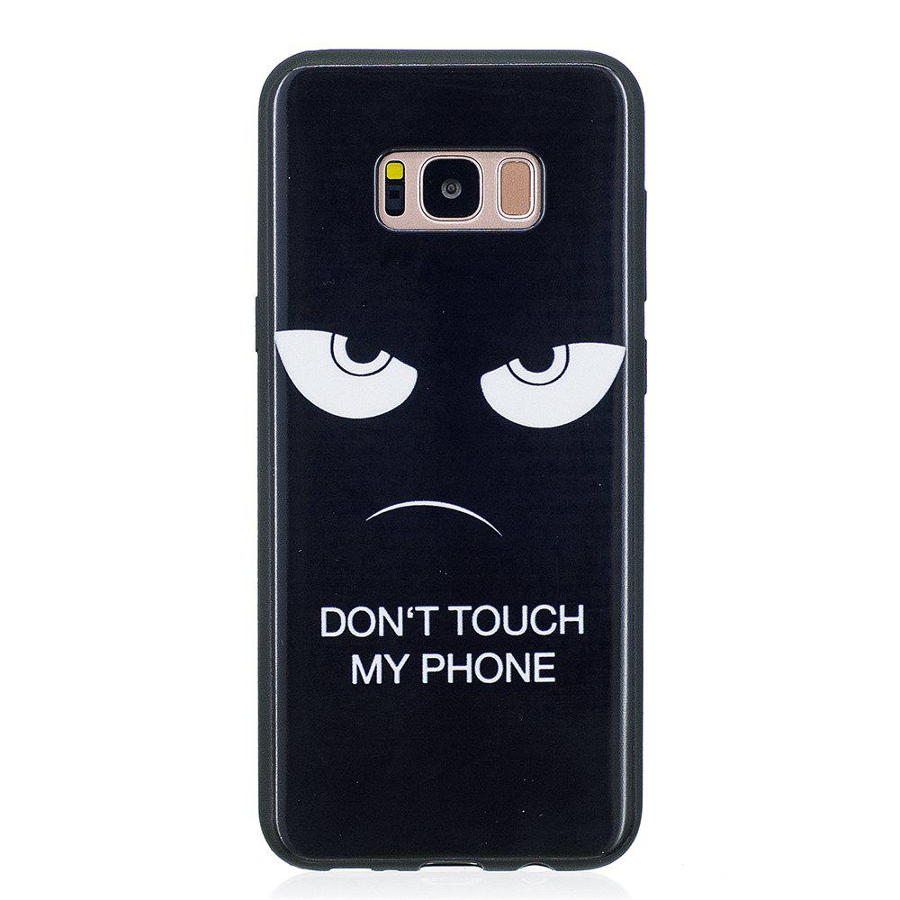 Case For Samsung GALAXY S8 Painted Cover TPU Phone Protection Shell - BLACK