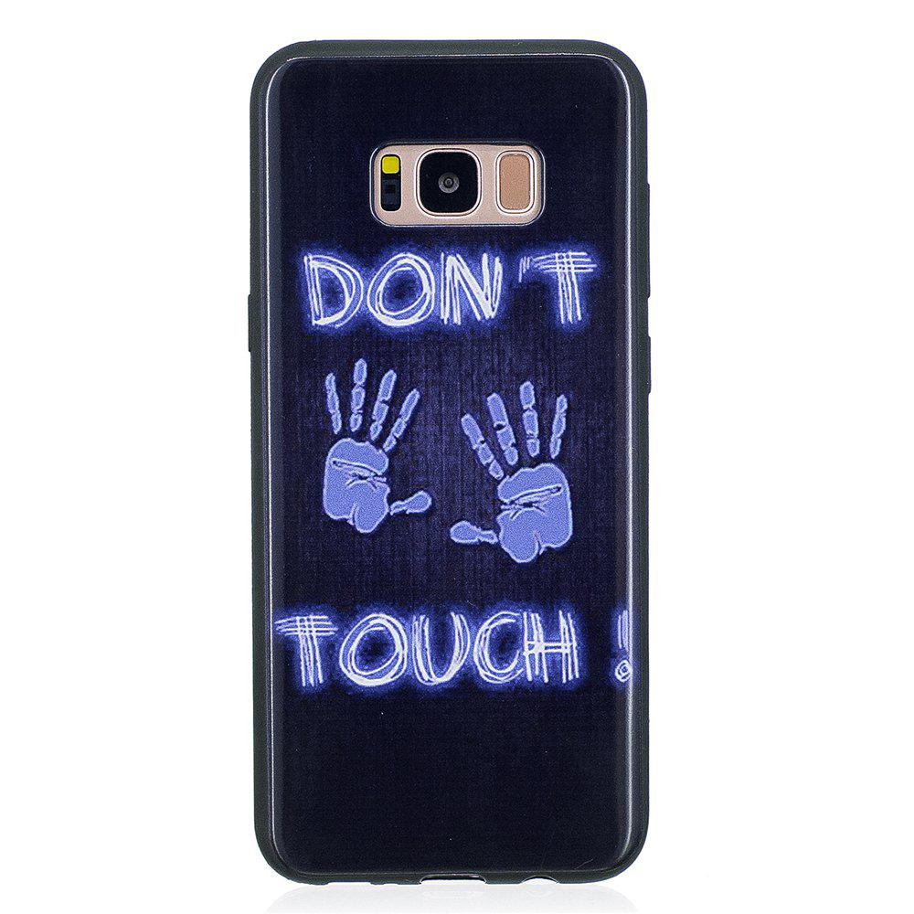 Case For Samsung GALAXY S8 Painted Cover TPU Phone Protection Shell - BLUE