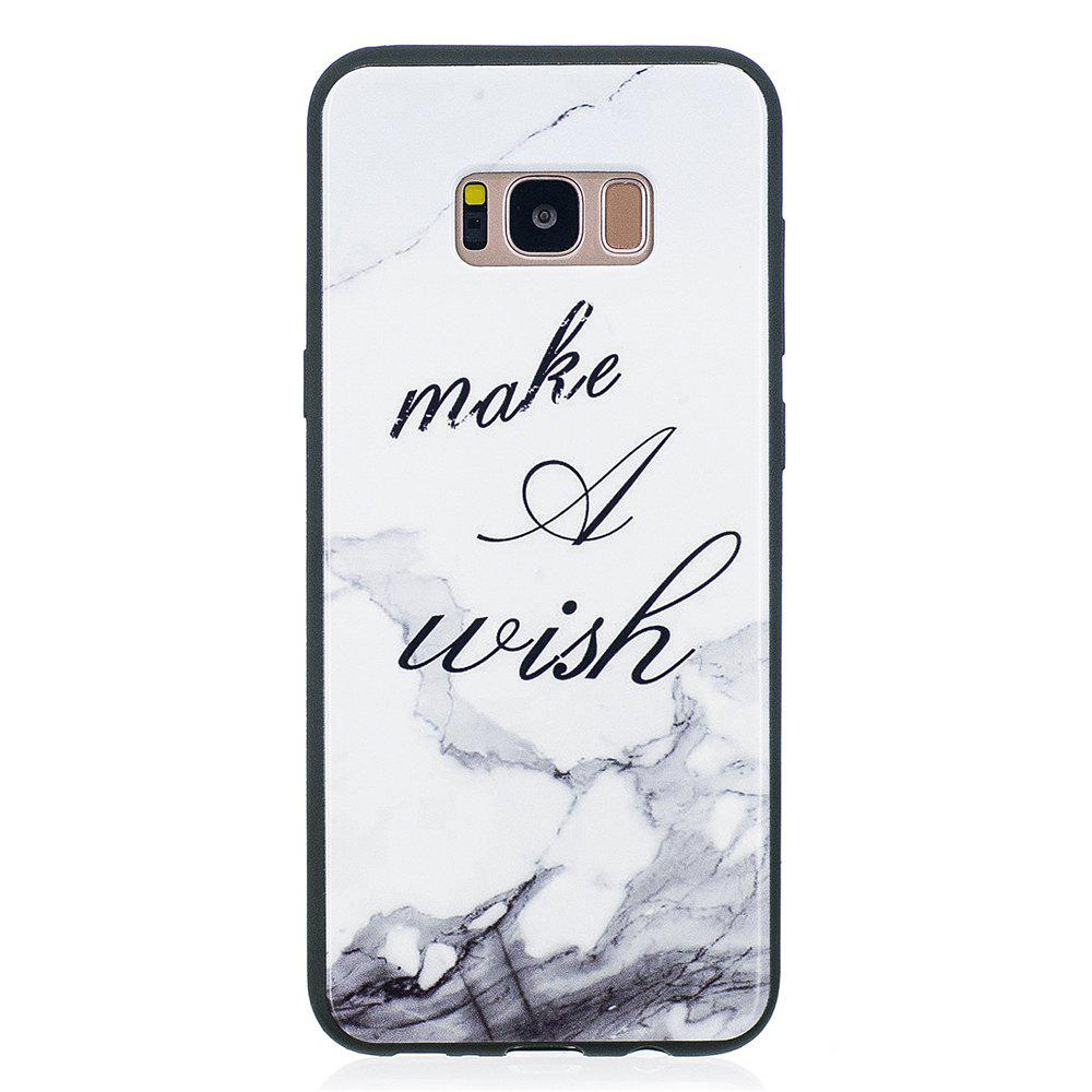 Case For Samsung GALAXY S8 Painted Cover TPU Phone Protection Shell - WHITE