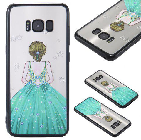 Case Samsung GALAXY S8 Light oil Relief Goddess TPU Phone Protection Shell - GREEN