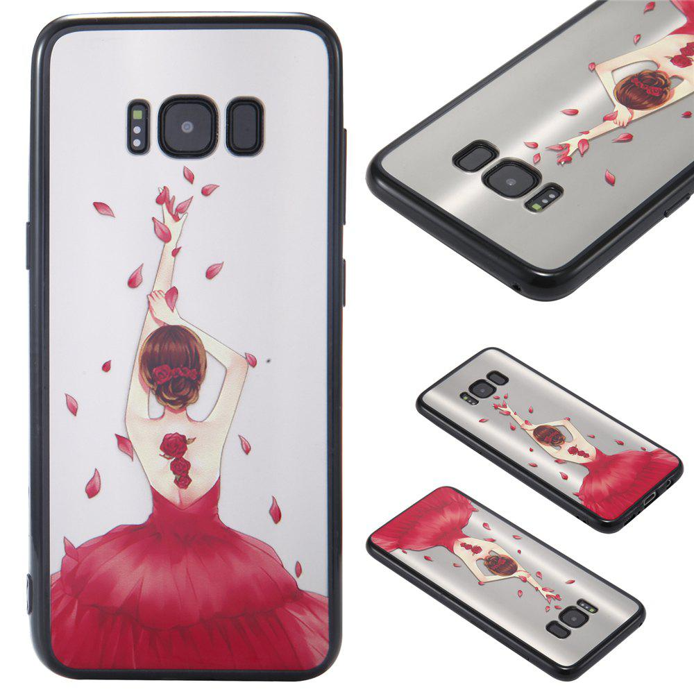 Case Samsung GALAXY S8 Light oil Relief Goddess TPU Phone Protection Shell - RED