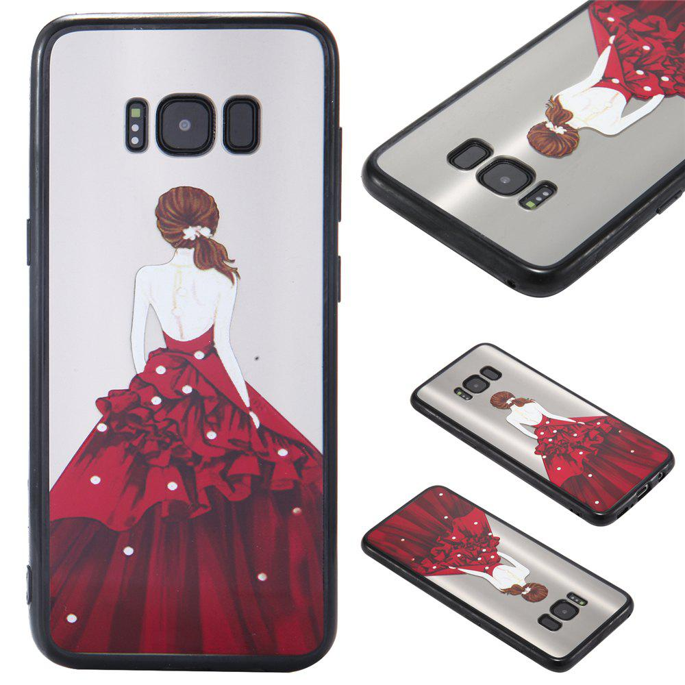 Case Samsung GALAXY S8Plus Photooil Relief Goddess TPU Phone Protects the Shell - RED