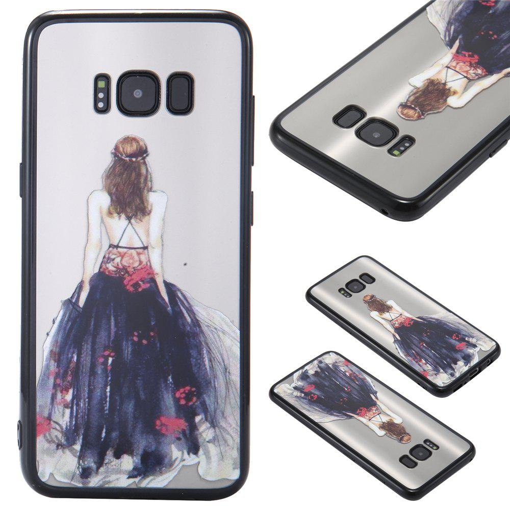 Case Samsung GALAXY S8Plus Photooil Relief Goddess TPU Phone Protects the Shell - BLACK