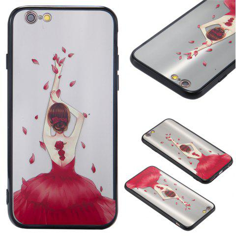 Case For Iphone 6 Light oil Relief Goddess TPU Phone Protection Shell - ROSE RED