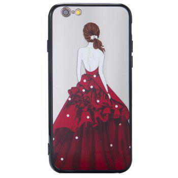 Case For Iphone 6 Light oil Relief Goddess TPU Phone Protection Shell - RED
