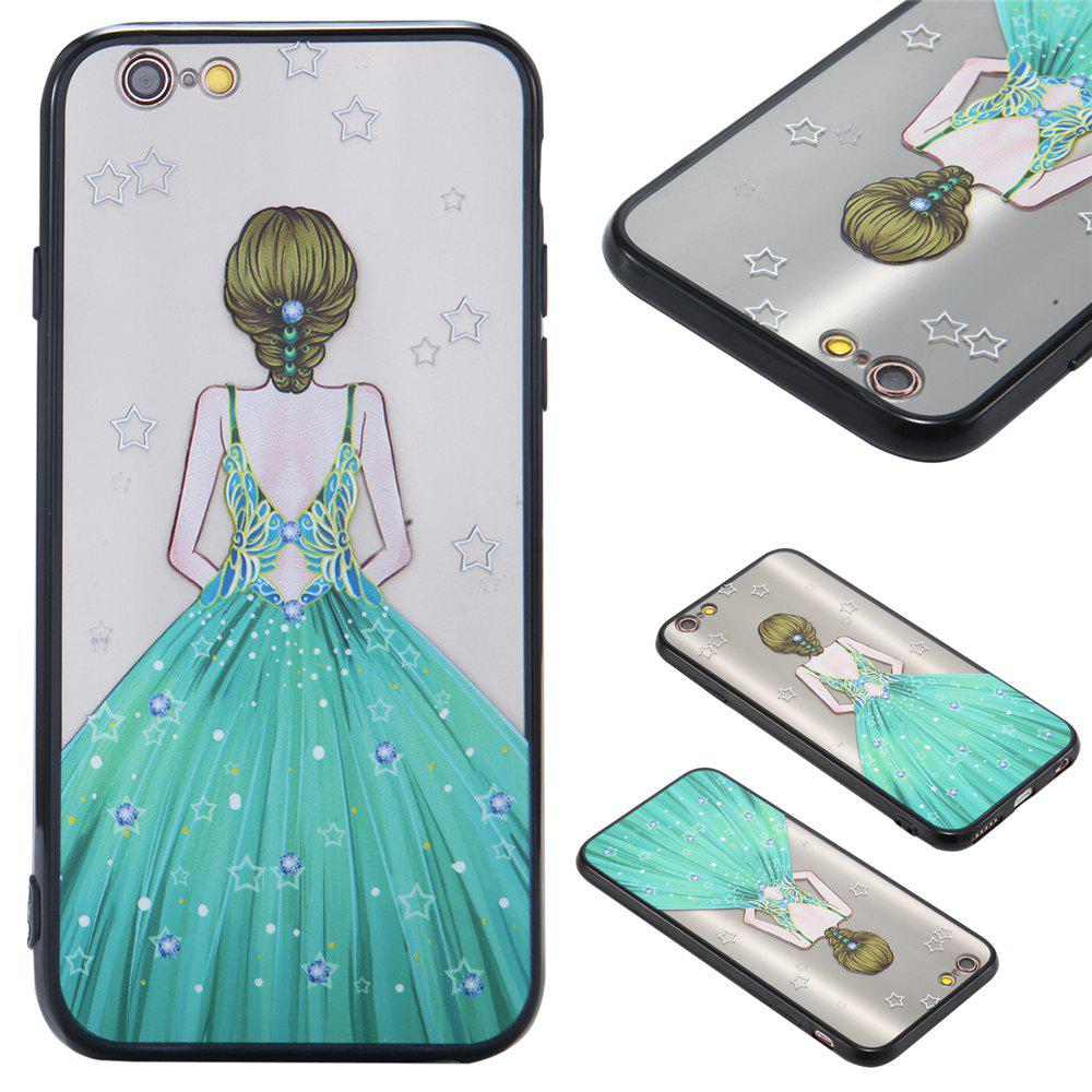 Case For Iphone 6 Light oil Relief Goddess TPU Phone Protection Shell - GREEN