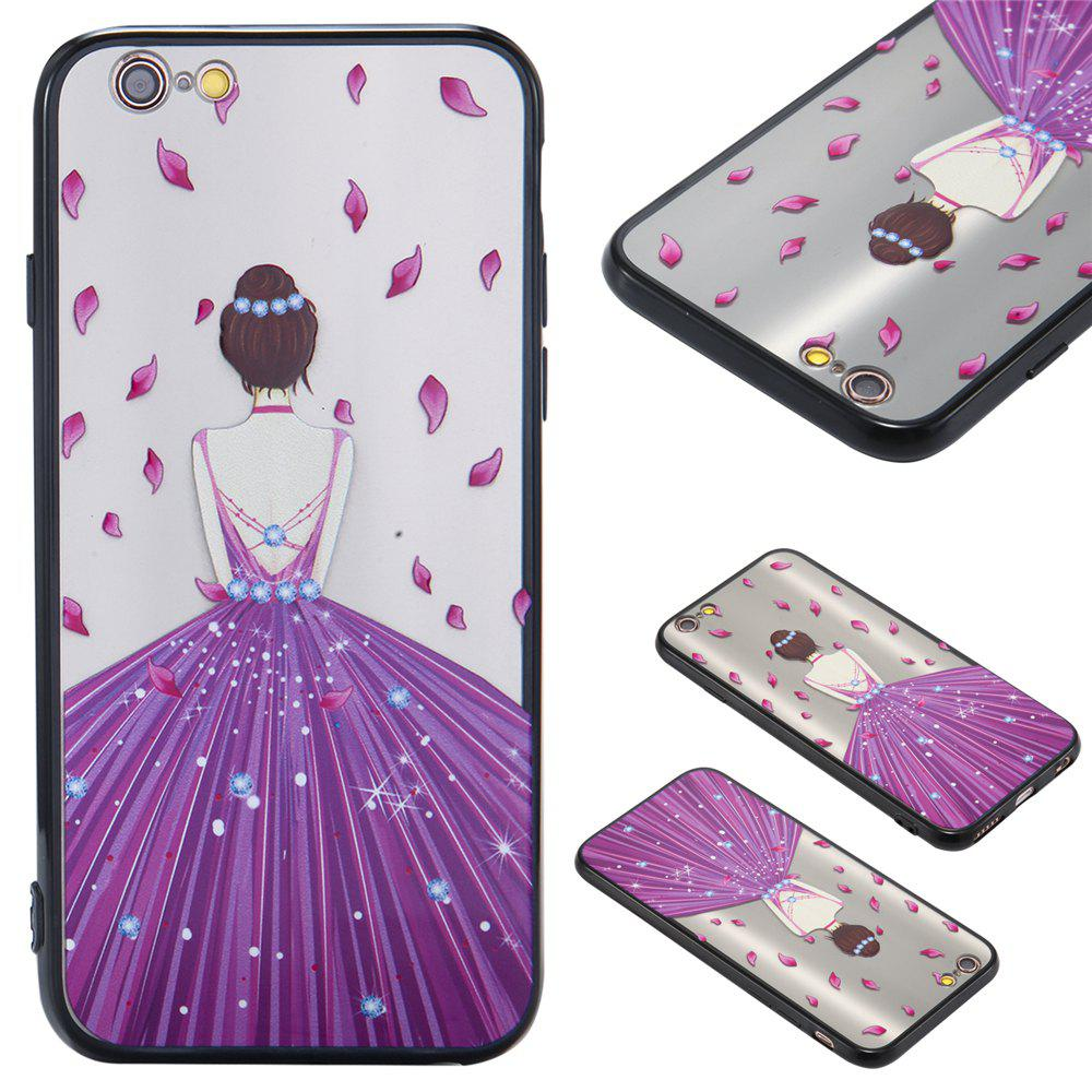 Case For Iphone 6 Light oil Relief Goddess TPU Phone Protection Shell - RADIANT