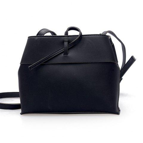 Sen System Small Square Shoulder Messenger Bag Women - BLACK