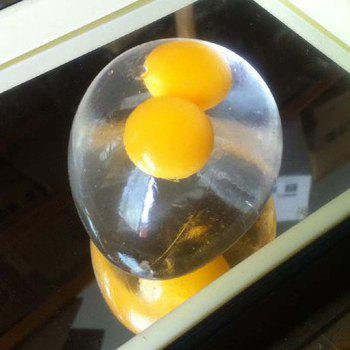 Double Yellow Egg Transparent Soft Vent Water Ball - YELLOW
