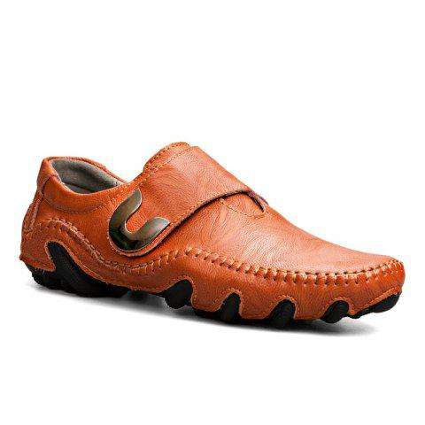 New Leather Octopus Lines Bottom of Casual Shoes - DARK AUBURN 46