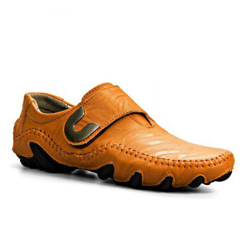 New Leather Octopus Lines Bottom of Casual Shoes - YELLOW BROWN 41