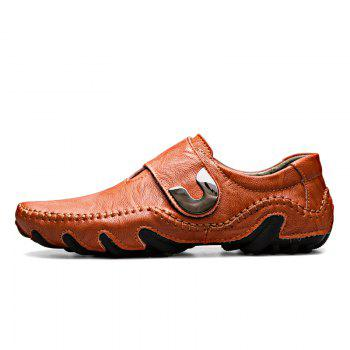 Nouvelles lignes de cuir Octopus Bottom of Casual Shoes - Brun rouge 44