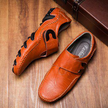 New Leather Octopus Lines Bottom of Casual Shoes - DARK AUBURN 41